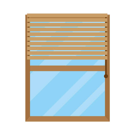 house window with blind