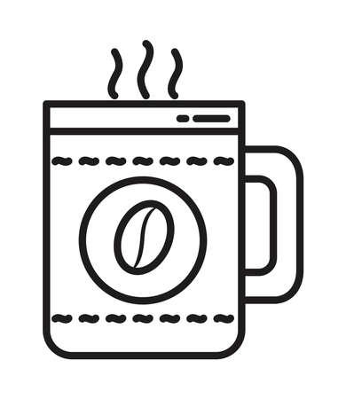 hot coffee mug icon 矢量图像