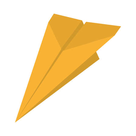 yellow paper plane icon