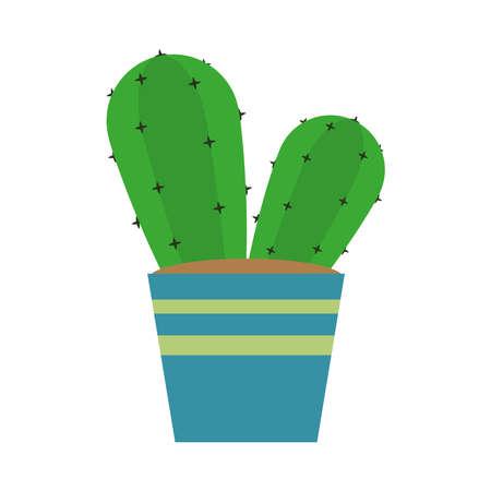 cactus plant pot 矢量图像