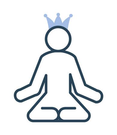 meditation man with crown