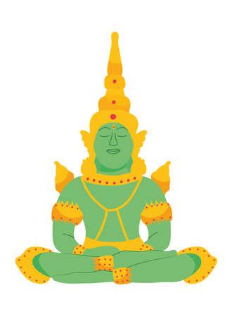 emerald buddha icon Vecteurs