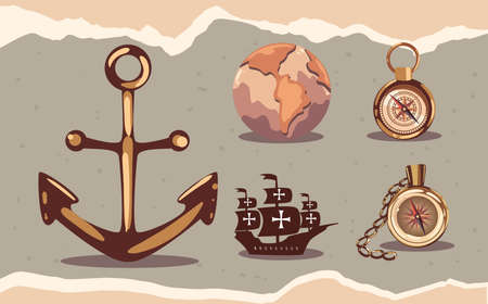 five columbus day icons