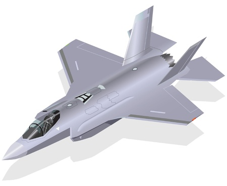 F-35 Lightning II Fighter Jet Vector