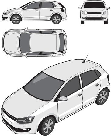 fleet: Compact Car Illustration
