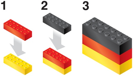 rebuild: Building blocks making German Flag