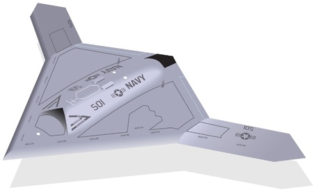 stealth: X-47 Unmanned Aircraft Illustration