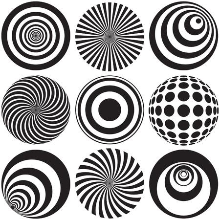Art optique en noir et blanc