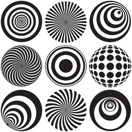 Optical Art in Black and White Stock Vector - 19342610