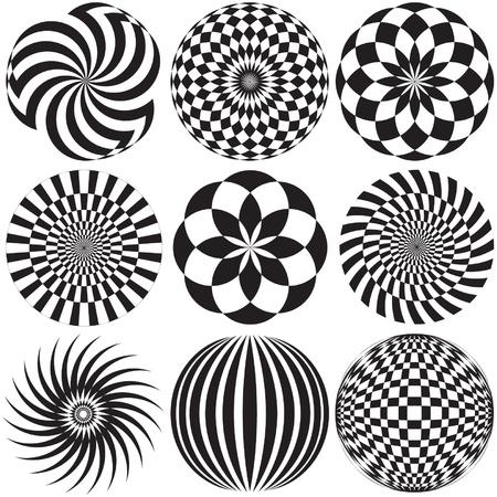 블랙과 화이트의 광학 아트 스톡 콘텐츠 - 19342611