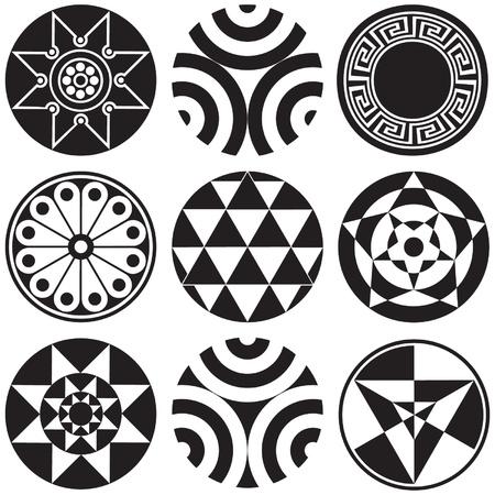 Round Design Elements Illusztráció