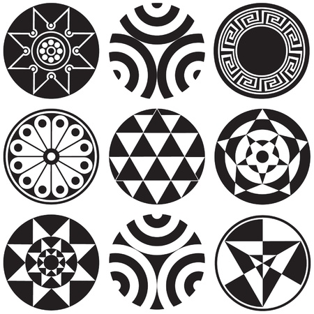 Round Design Elements Ilustração