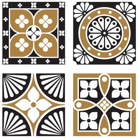 Vintage Ornamental Patterns Illusztráció