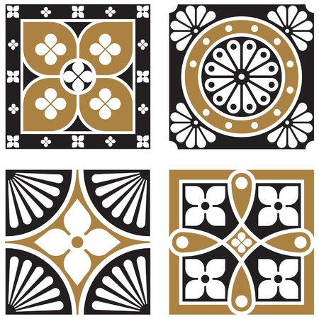 Vintage Ornamental Patterns Ilustração