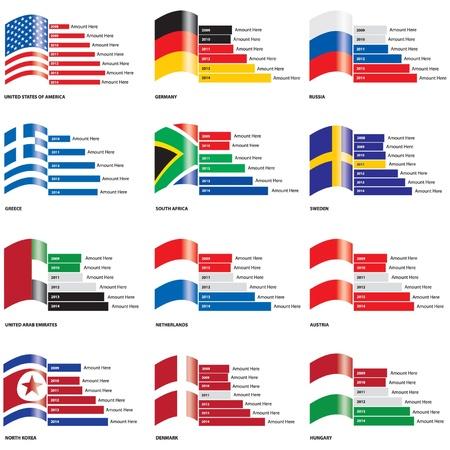 drapeau hollande: Drapeau modifiable graphiques � barres