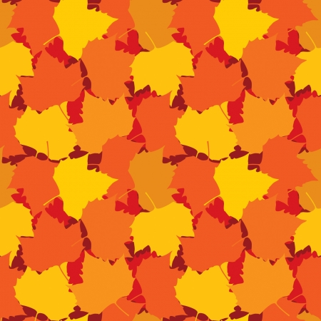 Autumn leaves seamless background Stock Vector - 20049642