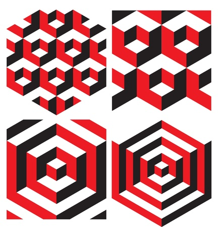 illusion: Abstract Isometric Geometric Pattern Background