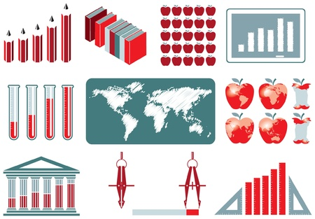apple core: Education Infographics Collection Illustration