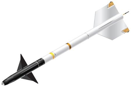 Detailed Isometric Vector Illustration of Sidewinder Missile Imagens - 21005763
