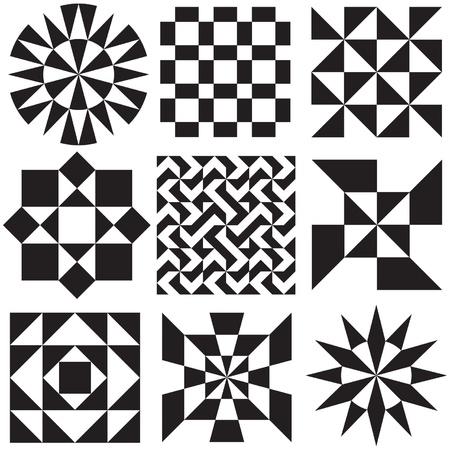 흑인과 백인 기하학적 패턴 스톡 콘텐츠 - 21851105
