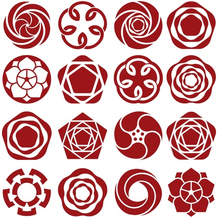 Rose Icons Stock Vector - 21851107
