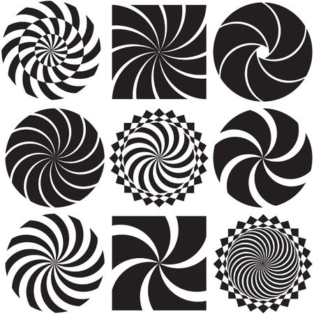 Optical Art in Black and White Stock Vector - 21851106