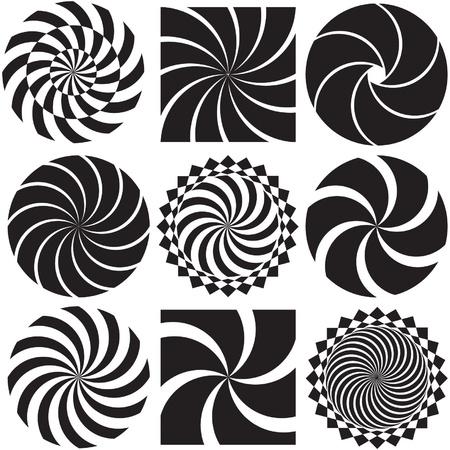 Optische kunst in Zwart-wit
