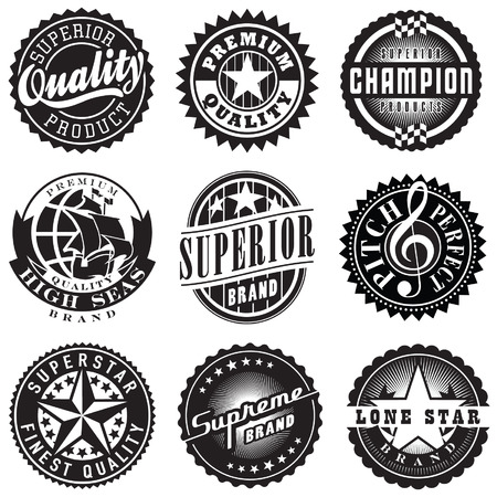 Set of Vintage Retro Labels Vector