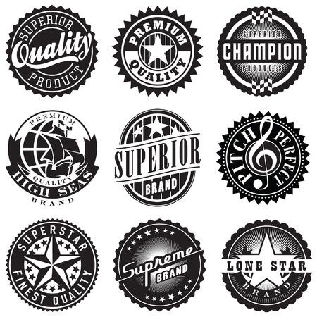 Set of Vintage Retro Labels Illustration