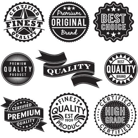 Set of Vintage Retro Labels Ilustração