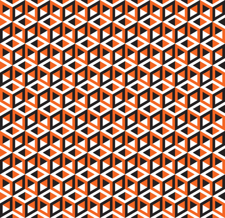 three dimensions: Seamless Optical Illusion Cube Pattern Texture