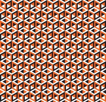 Seamless Optical Illusion Cube Pattern Texture