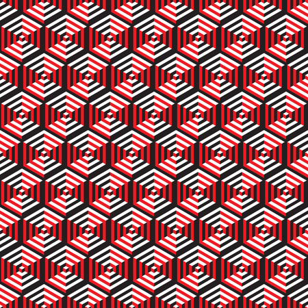 Seamless Optical Illusion Honeycomb Pattern Texture Vector