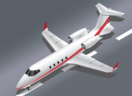 taking off: Detallada ilustraci�n isom�trica del vector de un Jet Privado Despegar