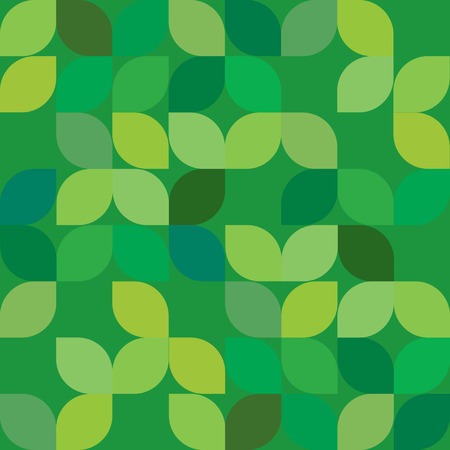 Seamless Abstract Geometric Green Leaf Texture Background