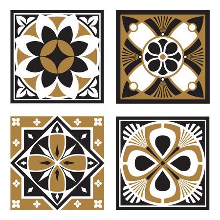 Vintage Ornamental Patterns Illustration
