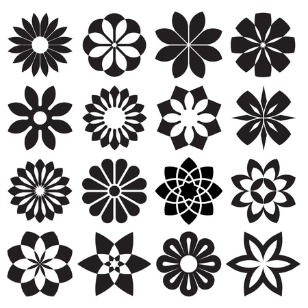 Vector Set of Graphic Flowers Imagens - 31506940