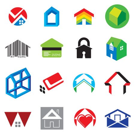 Set of House and Home Concept Icons Vector