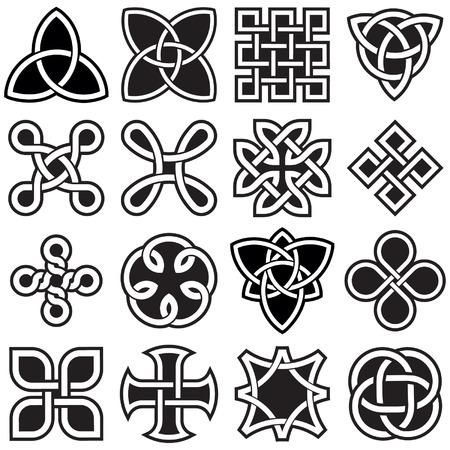Keltische Knopen in Vector bewerkbare indeling Stock Illustratie