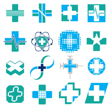 Set of Medical Concept Icons Vector