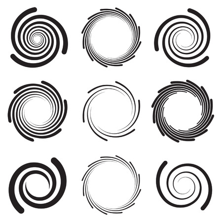 rounded edges: Optical Art - Collection of Spirals with rounded edges