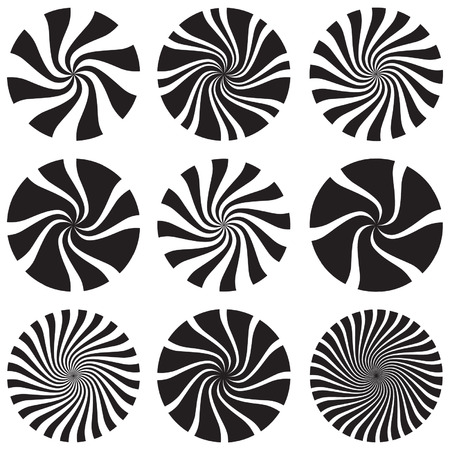 disappearing point: Op Art Spirals and Swirls