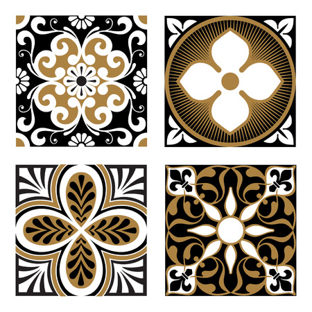 vector ornaments: Vintage Ornamental Patterns Illustration