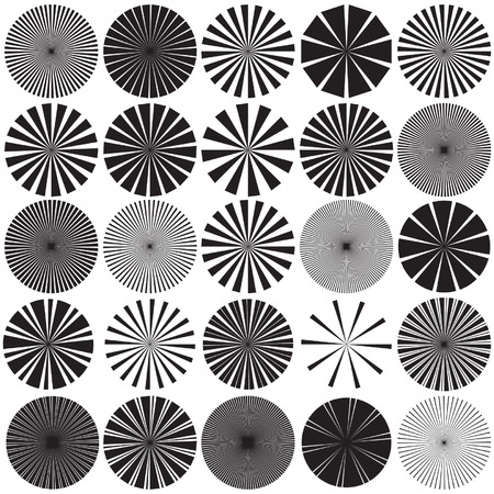 disappearing point: Vector Radial Pattern Graphic Collection Illustration