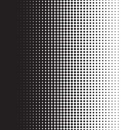 fade: Halftone dots pattern gradient in vector format