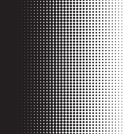 Halftone dots pattern gradient in vector format