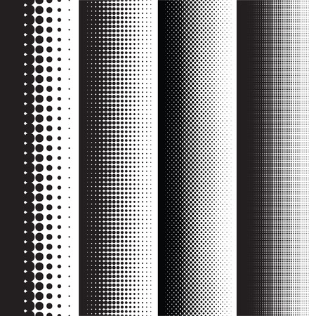 Halftone dots pattern gradient set in vector format