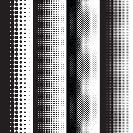 Halftoonpunten patroon gradiënt in vector-formaat Stockfoto - 42478015