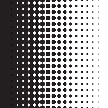 moire: Halftone dots pattern gradient in vector format
