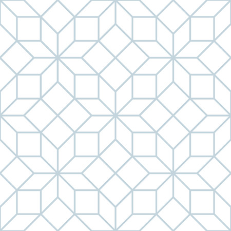 Vector seamless soft white geometric tracery pattern  イラスト・ベクター素材
